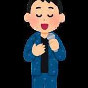 歌手のイラスト(男性)