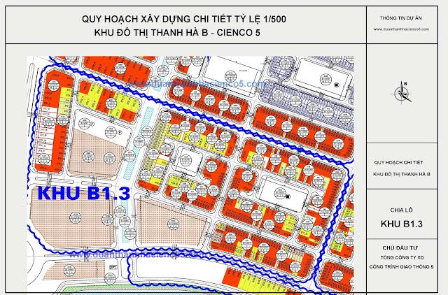 Vị trí chung cư B1.3 T1 T2 T3 Thanh Hà Mường Thanh