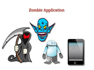 How does a Zombie Application pose a threat ?