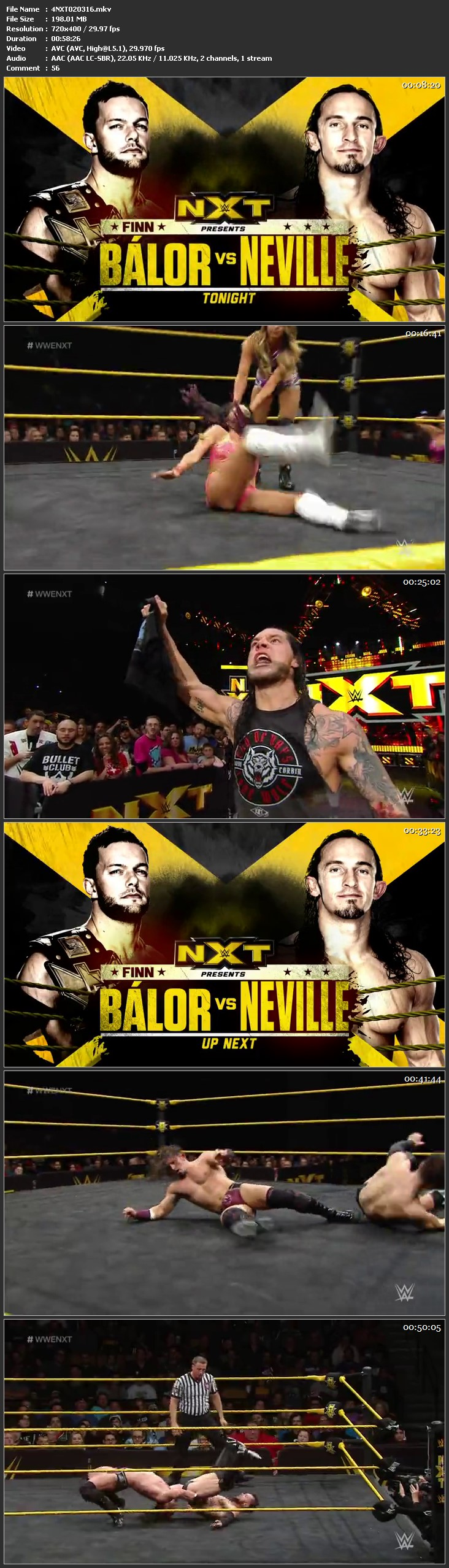 Screen Shot Of WWE NXT 2nd March 2016 WebDL 480P 200MB