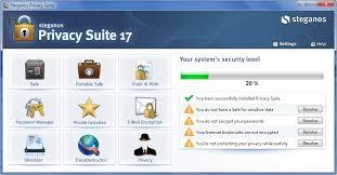 تحميل STEGANOS PRIVACY SUITE 17 لحماية الملفات مع سيريال التفعيل