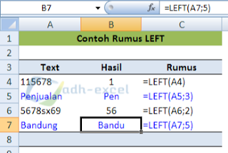 LEFT function in Excel