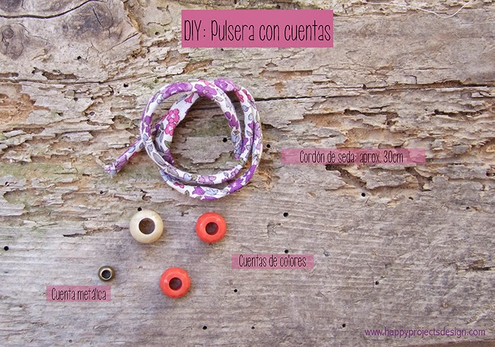 DIY Pulsera con cuentas