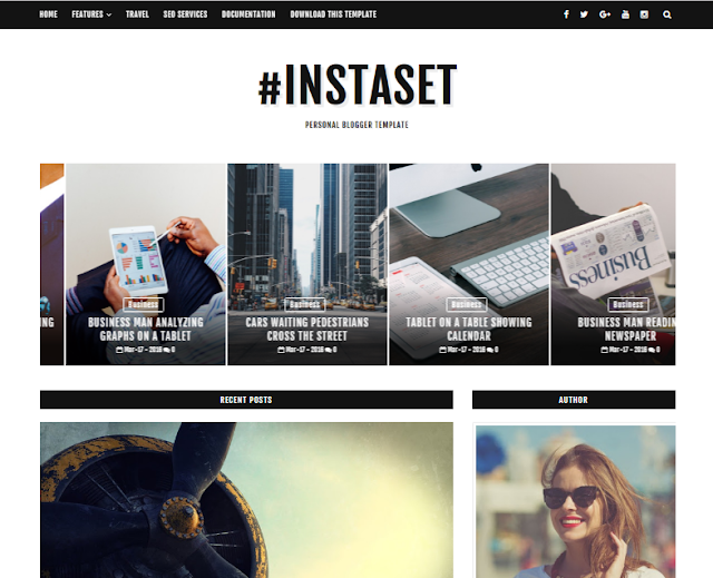 Instaset Blogger Theme