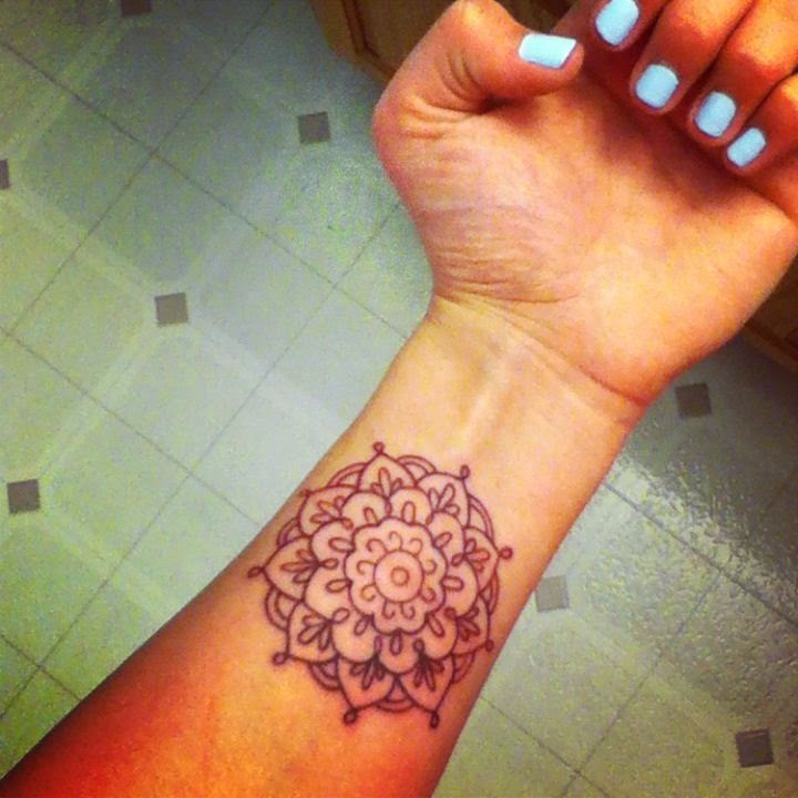 Wrist Mandala Tattoos Henna: Simple Henna Tattoo Designs For Wrist