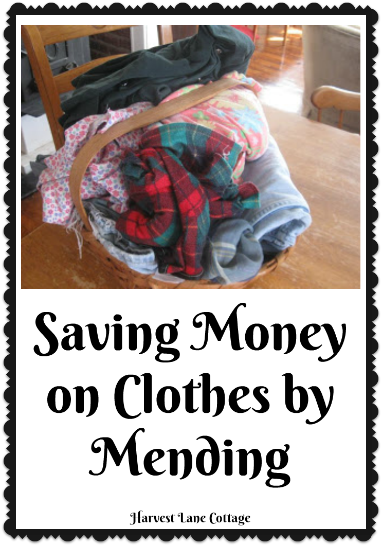 Harvest Lane Cottage: Saving Money on Clothes by Mending ...
