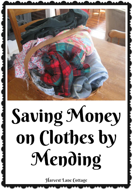 Saving Money by Mending Clothes