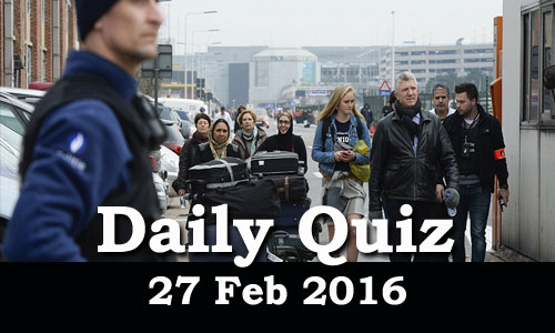 Daily Current Affairs Quiz - 27 Feb 2016