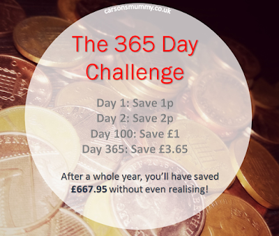 365 day challenge, save money, new years resolution
