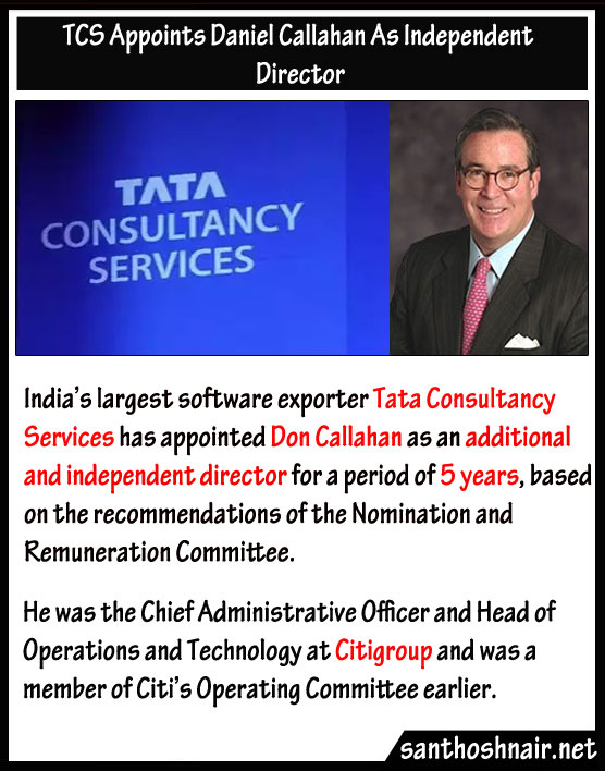 TCS appoints Daniel Callahan as Independent Director