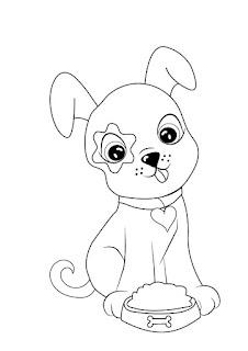 דפי צביעה כלבים לילדים