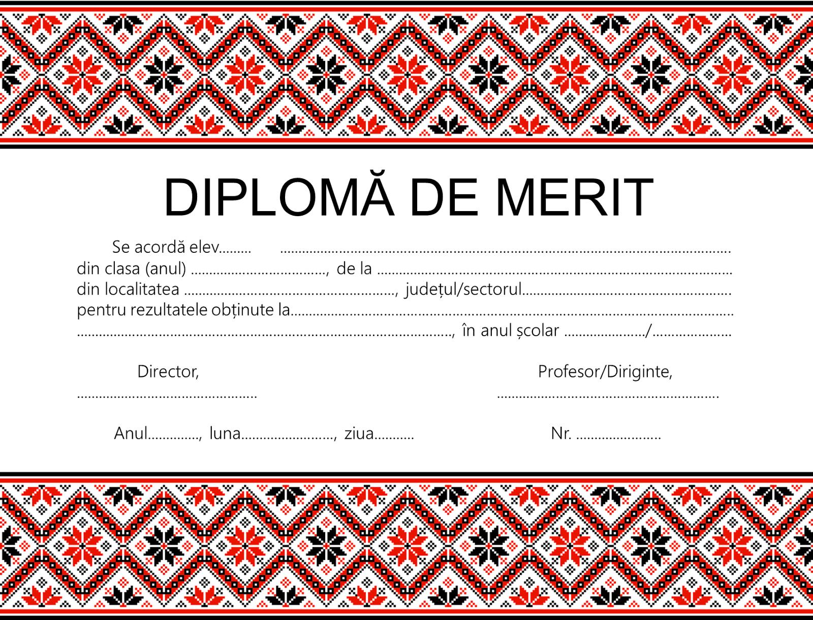 Pachet de premiere: diplomă și suport cu motive tradiționale