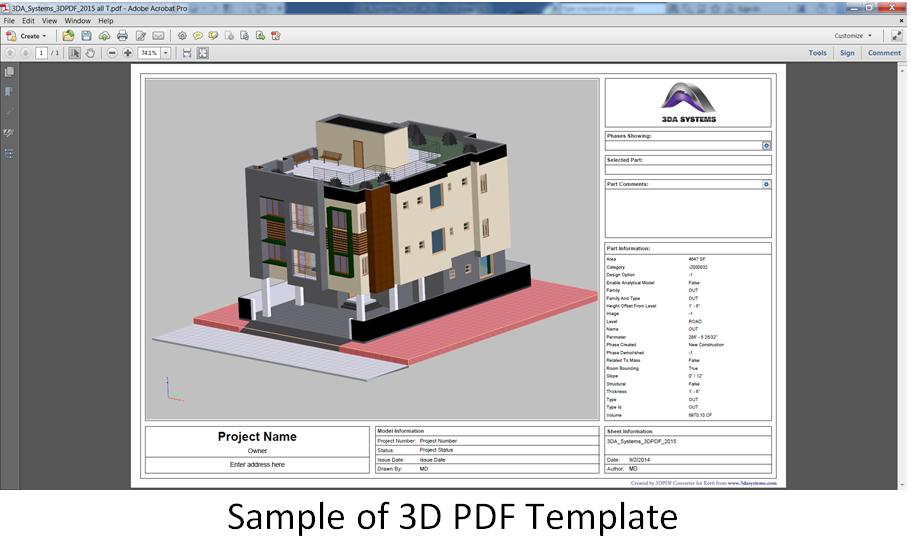 Interactive 3D PDF documents