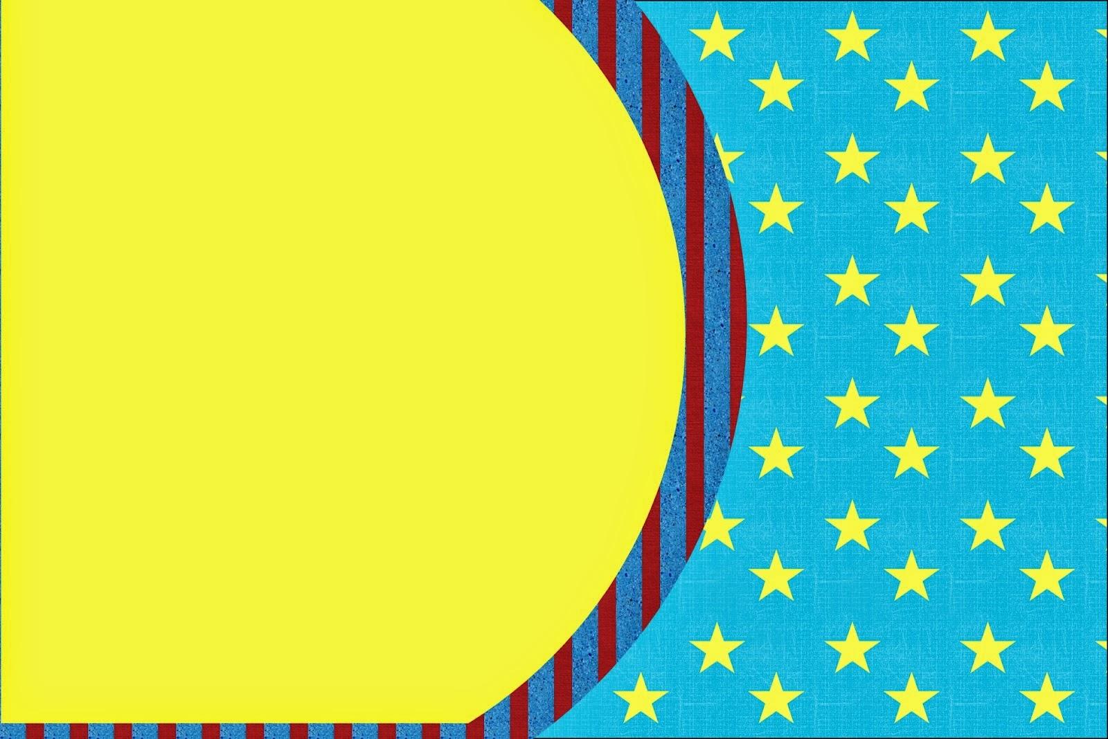 Para hacer invitaciones, tarjetas, marcos de fotos o etiquetas, para imprimir gratis de Estrellas sobre Fondo Celeste.