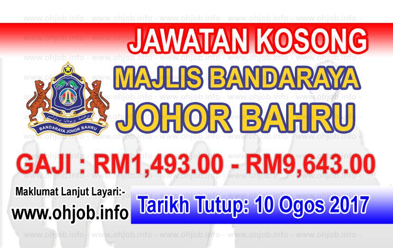 Jawatan Kerja Kosong Majlis Bandaraya Johor Bahru - MBJB logo www.ohjob.info ogos 2017
