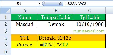 Menggabungkan teks dan Tanggal di Excel