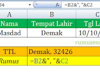 Cara Menggabungkan Data Teks dan Tanggal di Excel