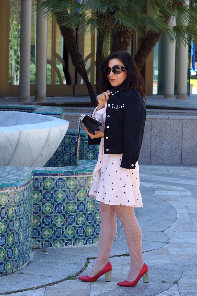 pink-polka-dot-ruffles-dresses