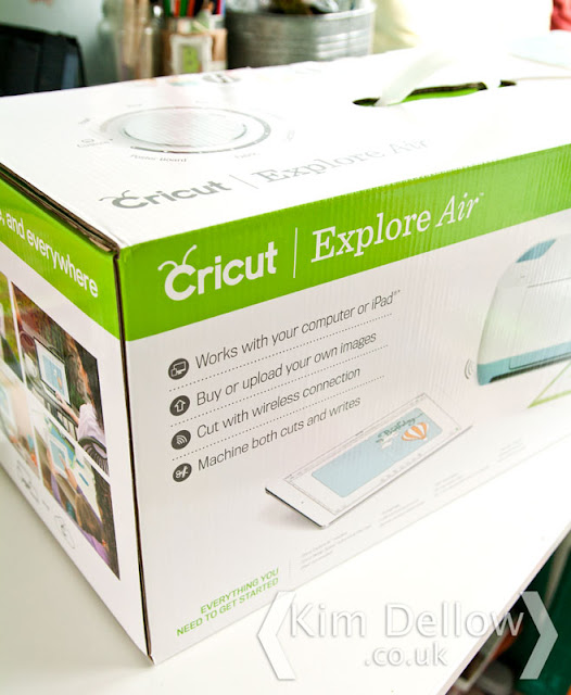 the new Cricut Explore Air in its box