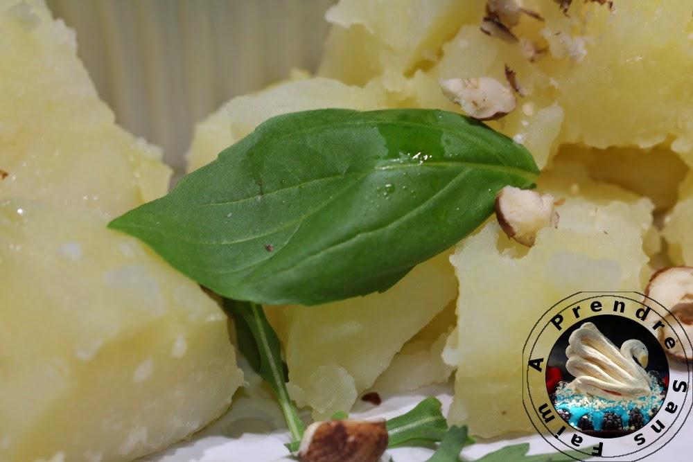 Pesto de pommes de terre aux noisettes