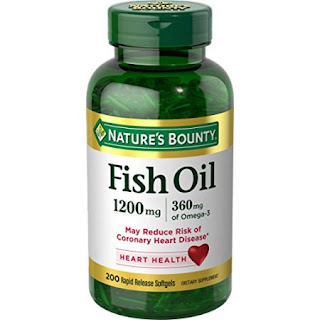 Viên uống hỗ trợ tim mạch Nature bounty fish oil 200 viên của Mỹ