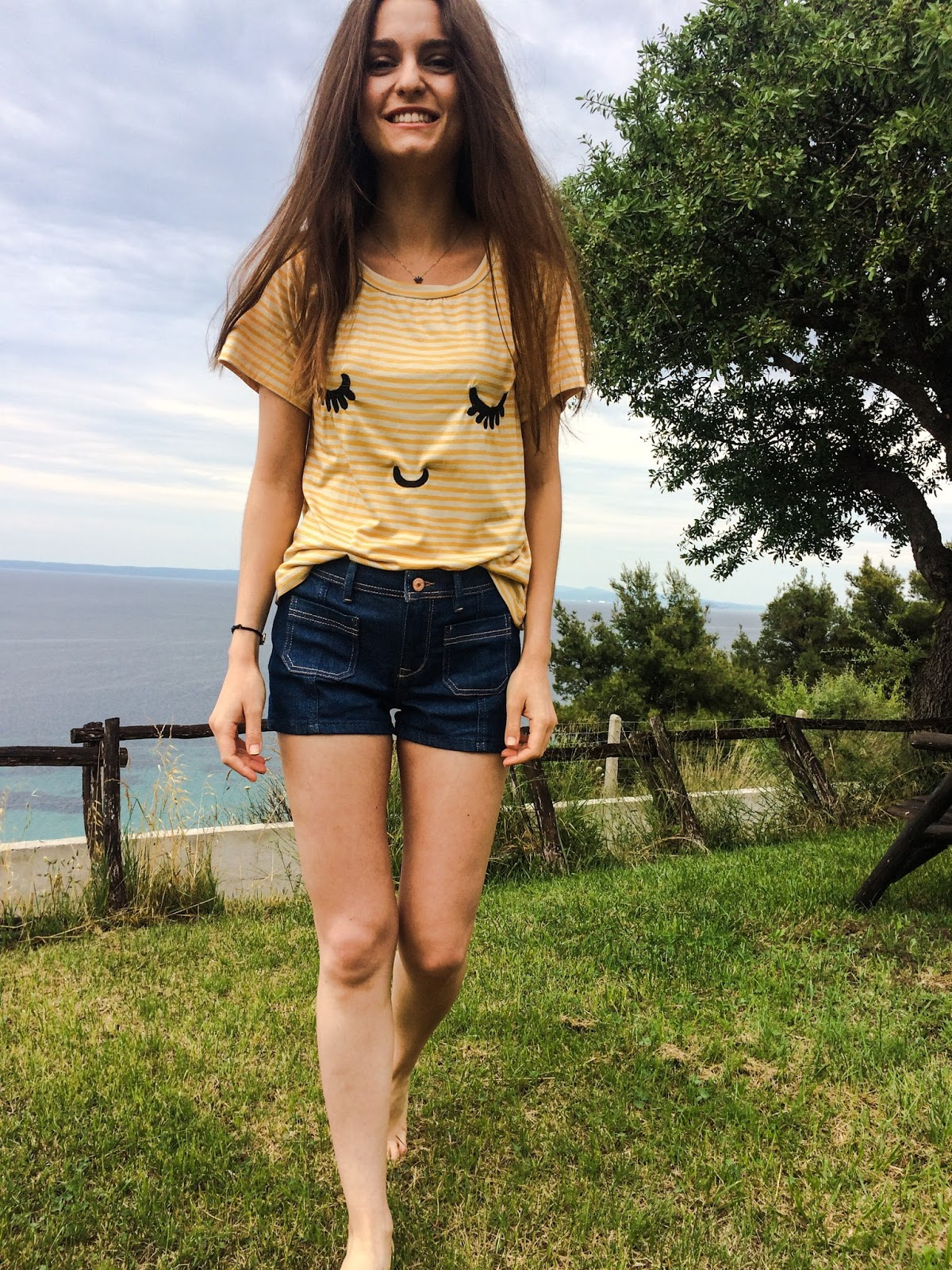 striped T-shirt shorts denim jeans pepaloves mexx