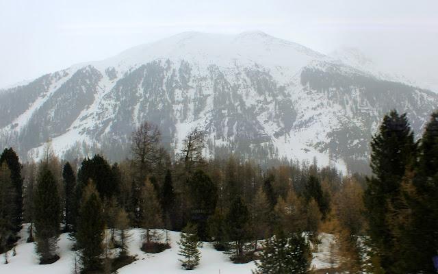 Picos nevados de la cordillera Bernina
