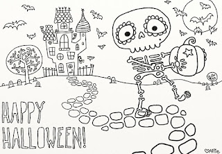 Happy-Halloween-Clipart-Black & White-2019-Free-Download