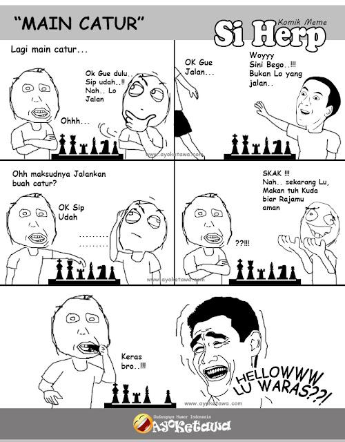 Serial Komik Meme Si Herp Main Catur Ayo Ketawa Gudangnya Humor