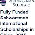 Fully Funded Schwarzman International Scholarships in China, 2018