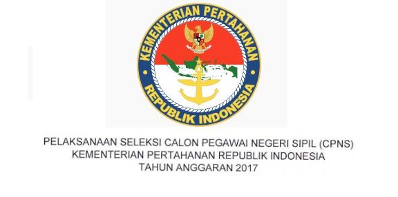 Lowongan CPNS Kementerian pertahanan