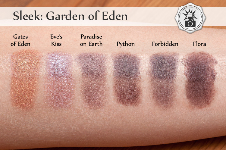 Sleek: Garden of Eden swatche