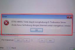 e-Faktur Error ETAX-40001, Cek Sertifikat Elektronik e-Faktur