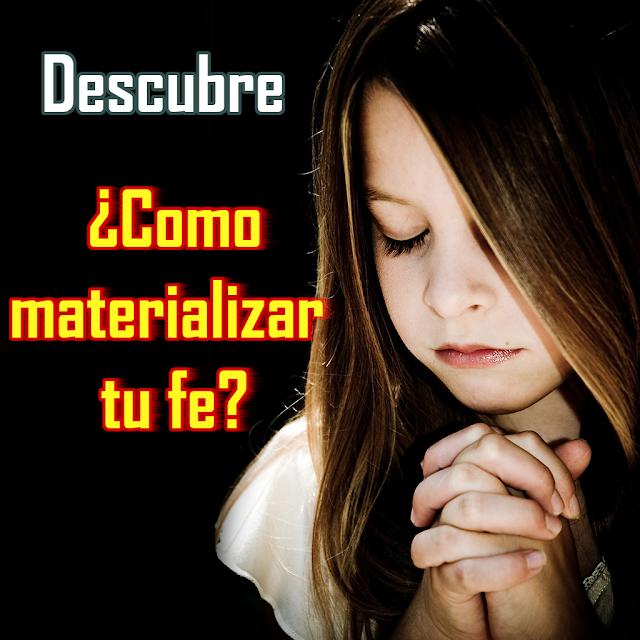 Niña en oración - Como materializar tu fe.