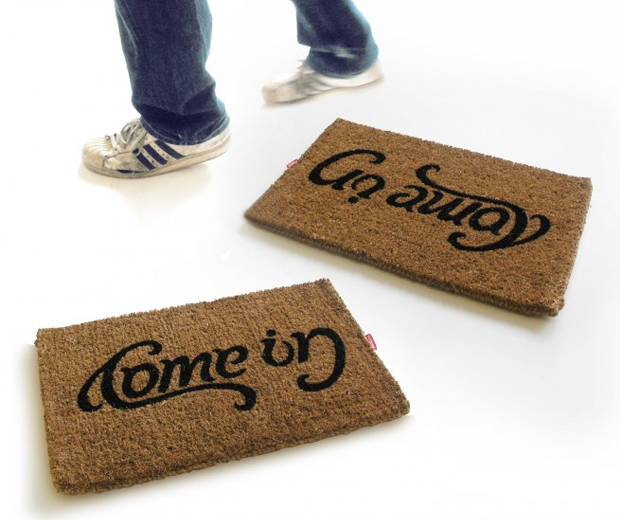 Come In and Go Away Reversible Doormat