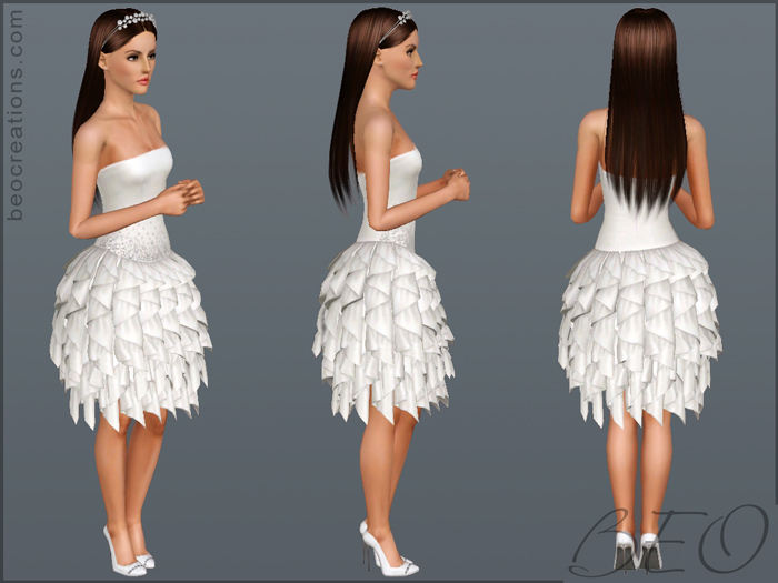My Sims 3 Blog: Wedding Dress 16 By BEO