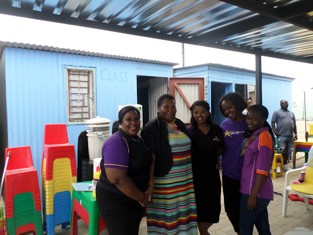 The Hollywoodbets Polokwane Team with Mama Dorah at the Shalate Drop-In Centre. Hollywoodbets donation for My Community Programme