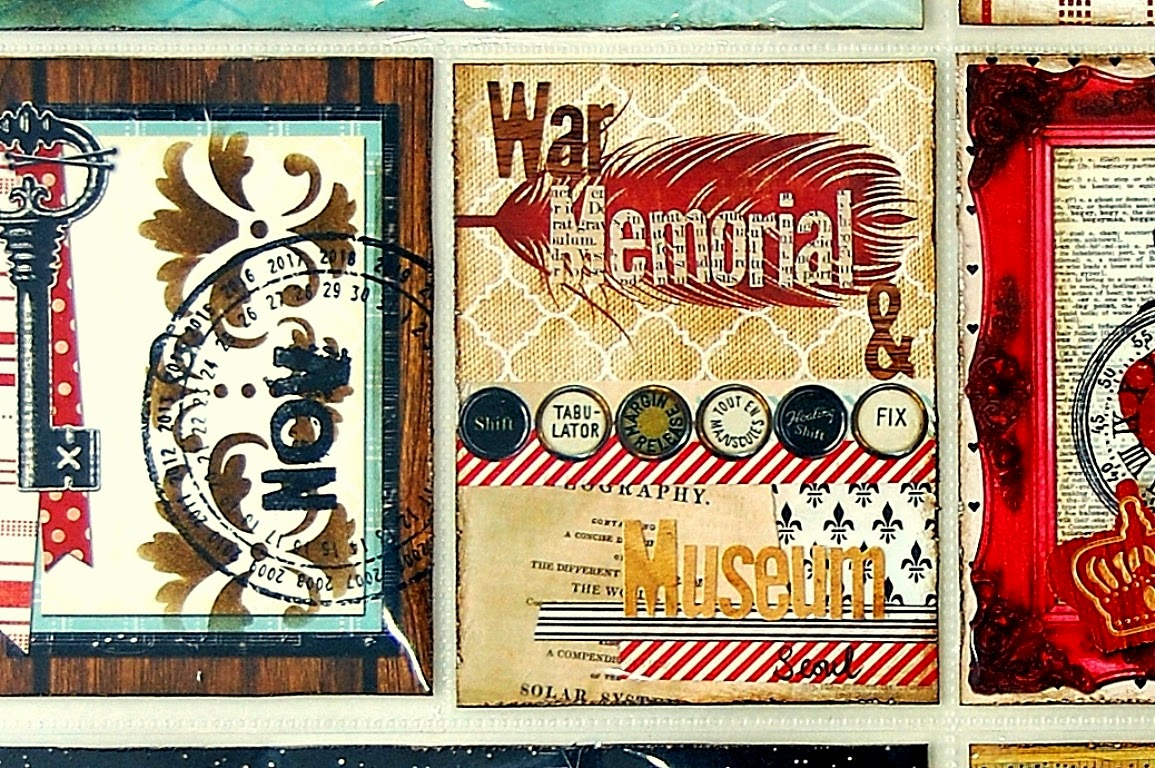 War Museum Misc Me Pages by Irene Tan using BoBunny Star-Crossed collection