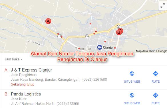 Daftar Alamat Dan Nomor Telepon Jasa Pengiriman Di Cianjur