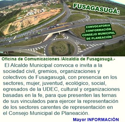Convocatoria conformación Consejo Municipal de Planeación.