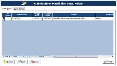 Aplikasi Agenda Surat Masuk dan Surat Keluar Gratis
