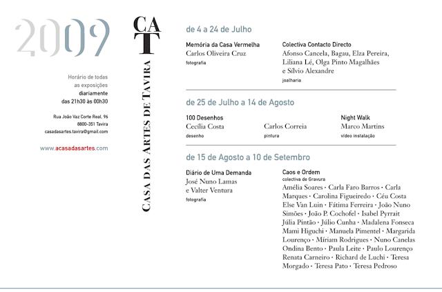 Casa das Artes . Cartaz . Programa 2009 . visionar web