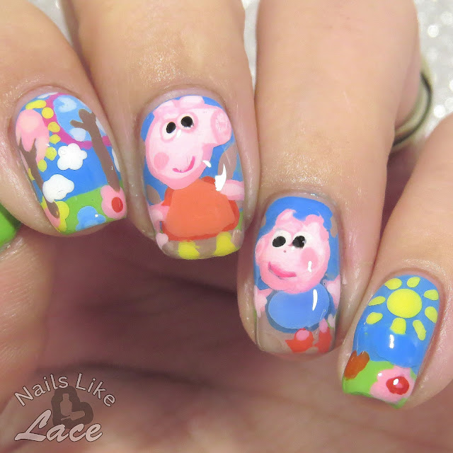 Pig Nail Art: NailsLikeLace: 40 Great Nail Art Ideas: Kids' T.V.