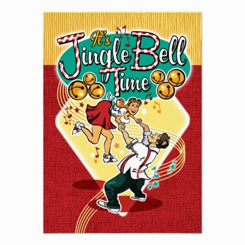 It's Jingle Bell Time - A Fun Retro 1950s Style Christmas Party Invitation