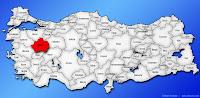 Kütahya ilinin Türkiye haritasında gösterimi