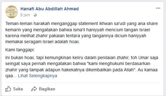 Hanafi Abu Abdillah Ahmad terciduk hoax