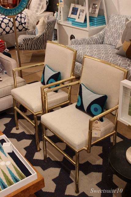 Jonathan Adler vintage bamboo chairs