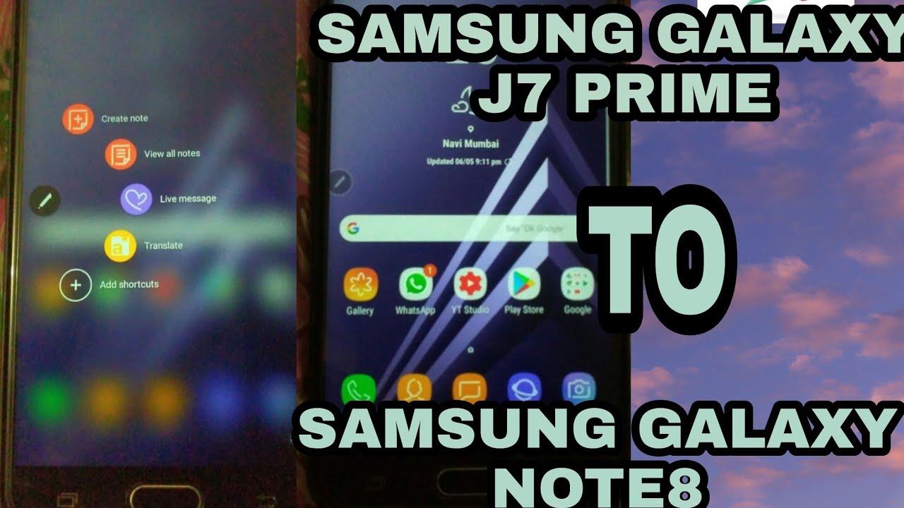 Samsung galaxy j7 prime custom Rom note 8 - Tech Gear 360
