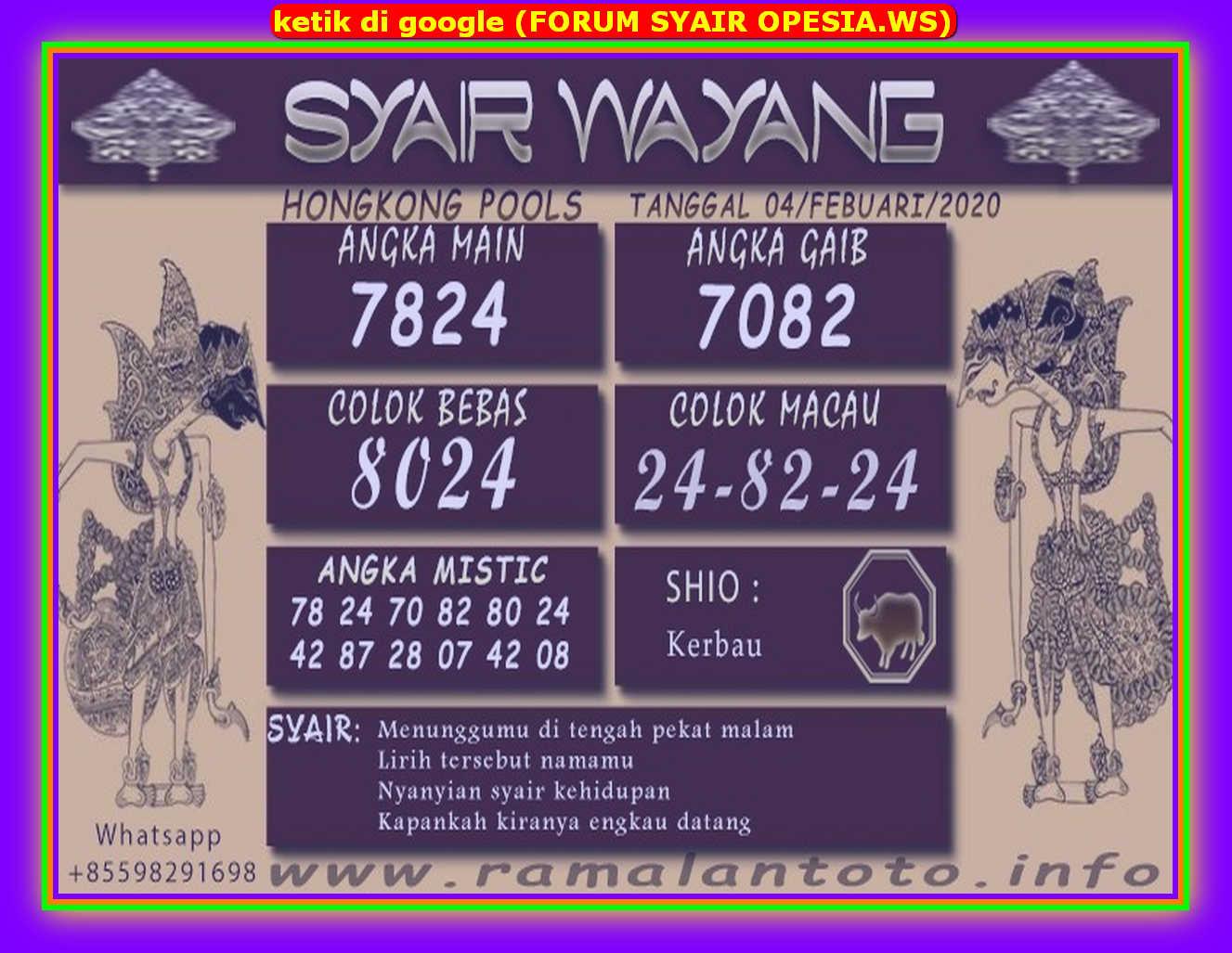 Kode syair Hongkong Selasa 4 Februari 2020 136