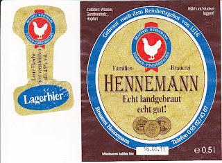 Brauerei Hennemann/Sambach: Lagerbier (Nr. 45)